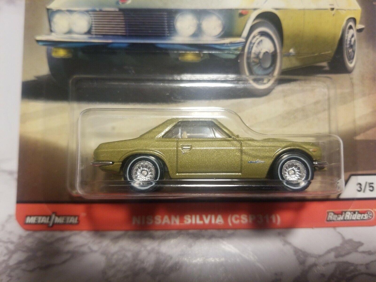 Nissan Silvia Japón Historics 3 Car Culture 1:64 Hot Wheels gjp85 fpy86 csp311