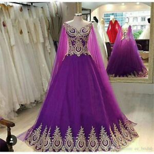 Plus Size Purple Ball Gowns Appliques Evening Dresses Pageant ...