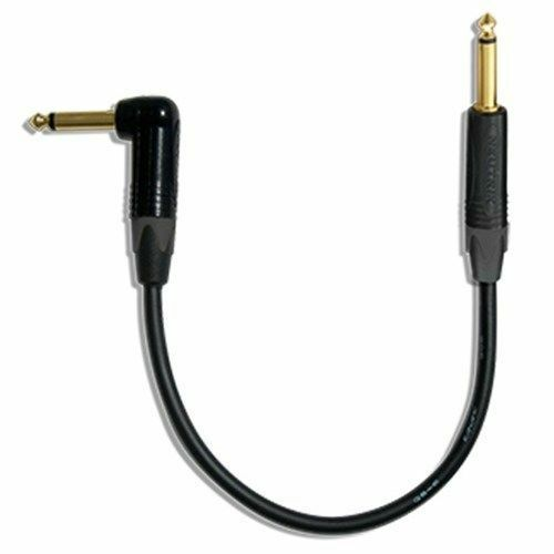 Pedal Effect Patch Cable w//Neutrik Gold Series RA-S/_BLACK 36 Inch Mogami 2524