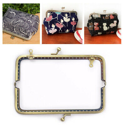 Blue Stones Metal Coin Purse Bag Change Purse Frame with Keychain Arch Frame Kiss Clasp Lock DIY Craft Wallet Accessaries 5cm