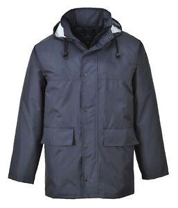 Portwest S437 Corporate Traffic Jacket Padded Rainwear Waterproof Pack-Away Hood