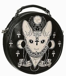 Bag Egyptian Illuminati Occult Banned Cat Siamese Bastet Sphynx Round Shoulder 6nwSqfZSg