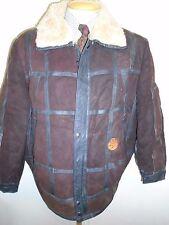 "Vintage B3 Style Real leather Bomber Aviator Leather Jacket M 38-40"" Euro 48-50"