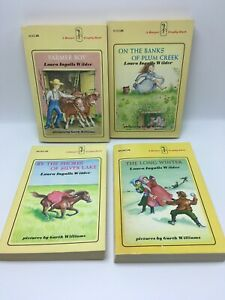 Little-House-on-the-Prairie-lot-3-6-GARTH-WILLIAMS-LAURA-INGALLS-WILDER-Yellow