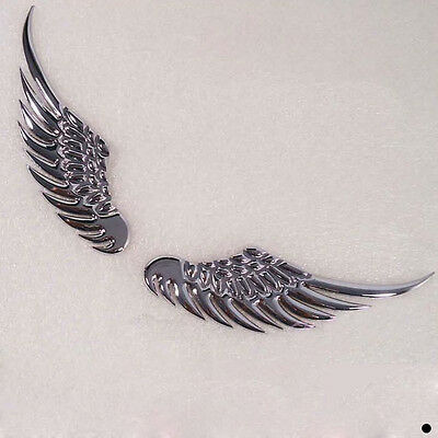 Angel Wings Alloy 3D Car Personalised Funny Wall Sticker Graphic Decal