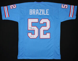 f6591688 Image is loading Robert-Brazile-Signed-Houston-Oilers-Jersey-Inscribed-034-