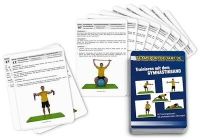 Trainingskarten - Gymnastikband Fitnessband Übungsband Yoga (30 Workouts)