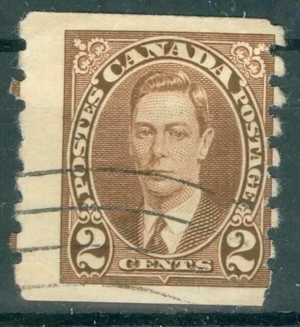 Canada 1937 - 2¢ Brown King George VI Mufti Issue Coil Sc#239