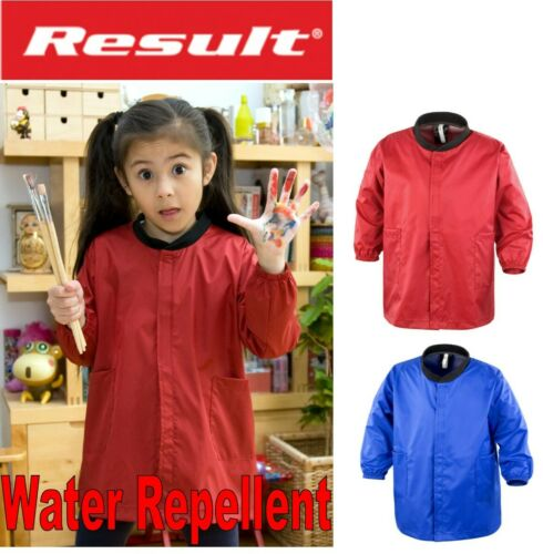 Ages 3 to 8 Kids ART PAINTING Stay Clean Clothes Protector SMOCK Top  Red Navy