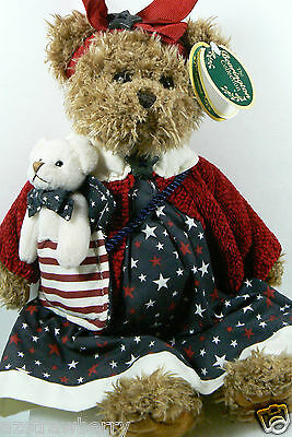 "Bearington Bear Limited Collection Betsy & Ross #1078 13"" Jointed Stars Stripes"