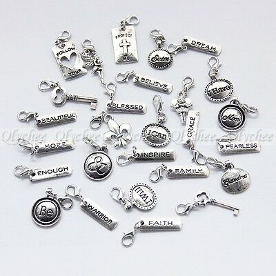 1X Clip on Charms Fit Chain Bracelet Pendant For Floating Locket Free Shipping