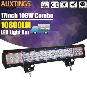 108W 17inch LED Work Light Bar Spot Flood Combo Offroad SUV 4x4WD JEEP