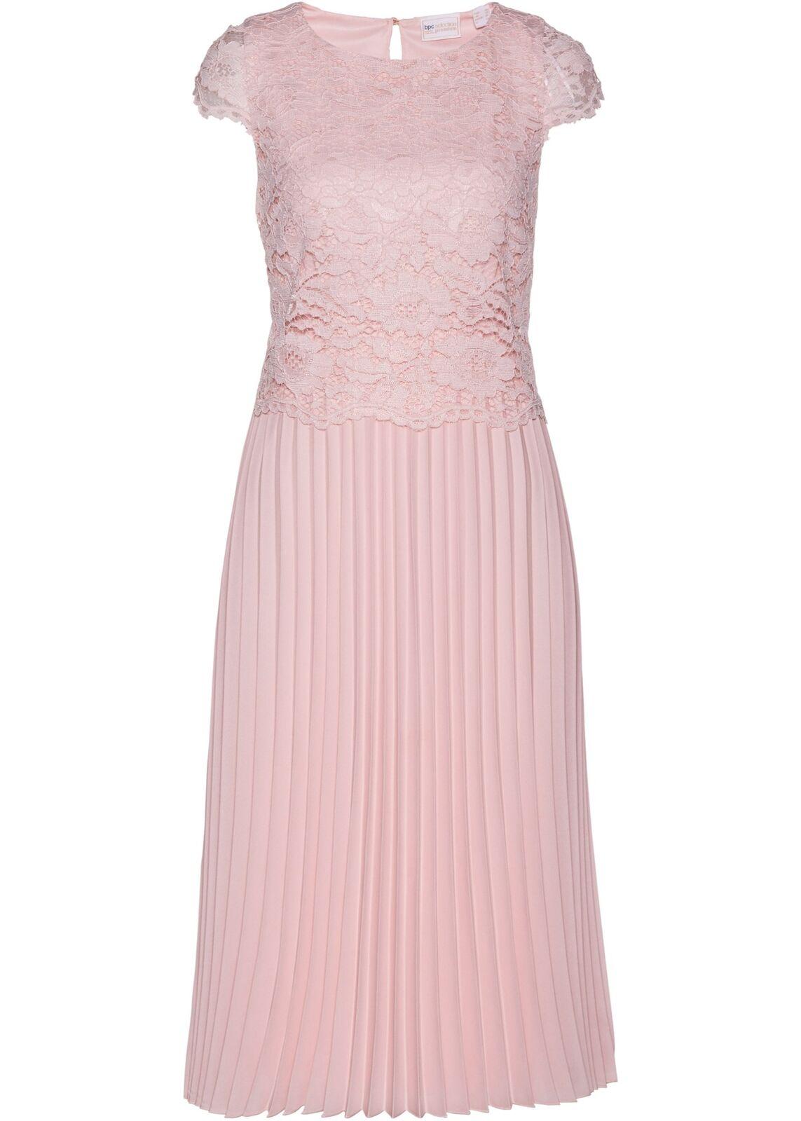 Premium Kleid Spitze Gr. 38 ZartRosa Damen Abendkleid Ballkleid Partykleid Neu