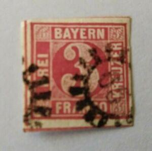 Bayern-3-Kreuzer-rot-Mi-Nr-9b-allseits-breitrandig-gMR-65-Burghausen
