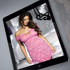 Designer Dessous Set rosa Nachtkleid Neglige Damen Kleid Babydoll Lingerie S M L