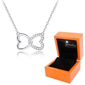 Herz-Halskette-Kette-Zirkonia-Anhaenger-aus-925-Sterlingsilber-Silber-LED-Box