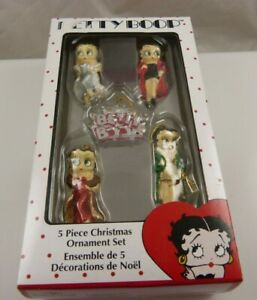 Betty-Boop-mini-5-piec-Christmas-ornament-Kurt-S-Adler-xmas-elegant