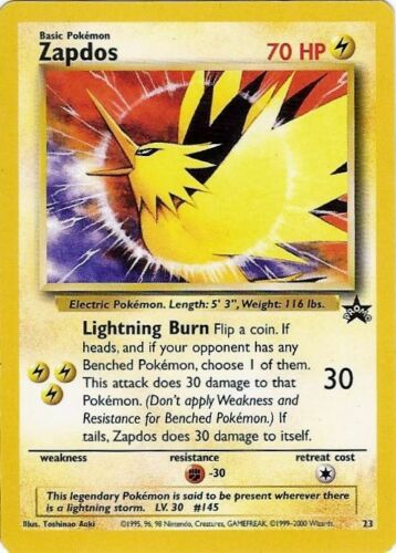 NEW Pokemon Black Star Promo Wizards Of The Coast HOLO // RARE Cards Pre EX Lv X