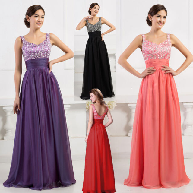 SALE~ PLUS LONG  / SHORT Evening Wedding Party Formal Gown Bridesmaid Prom Dress