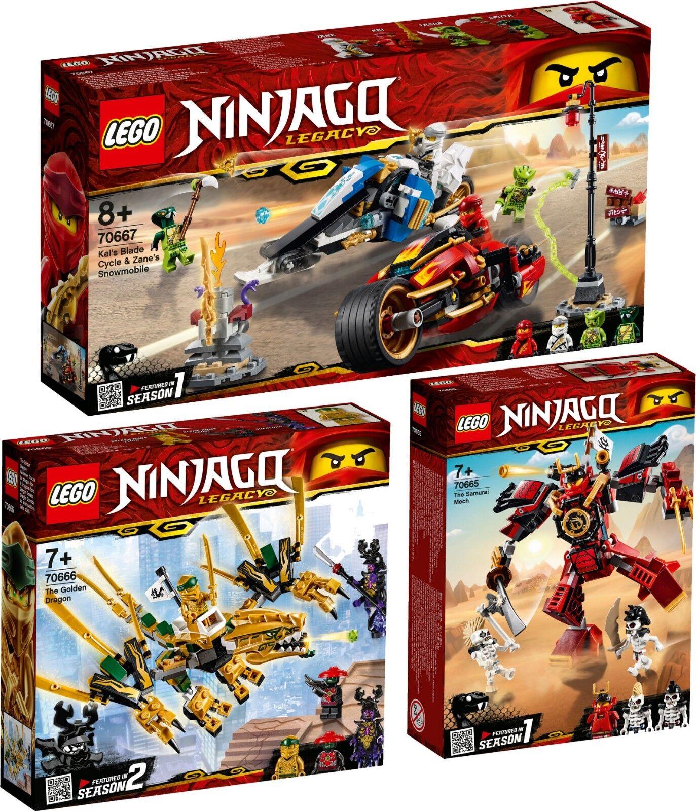 LEGO NINJAGO 70667 70666 70665 Samurai-Roboter Goldener Drache Kai VORVERKAUF