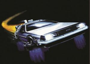 Image Is Loading BACK TO THE FUTURE DELOREAN POSTER PICTURE