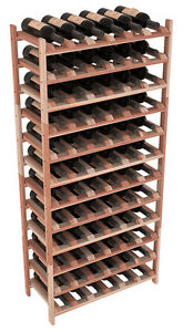 Stackable Wooden Wine Rack Shelves In Premium Redwood Easy Diy