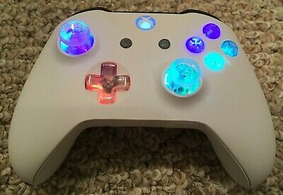 Xbox One Controller With Custom Led Glowing Mod Halo Cod Fallout Fortnite Ebay