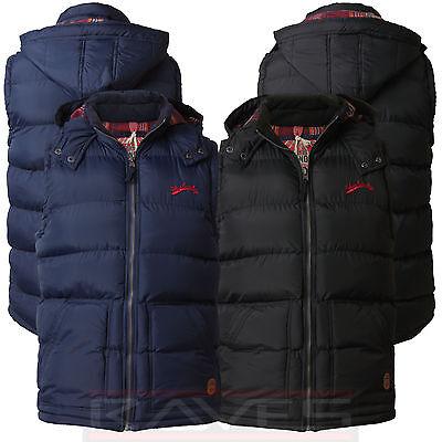 Mens Tokyo Laundry Quilted Padded Hooded Gilet Gillet Jacket Bodywarmer Kinmel