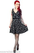 130277 Black Gray Lust for Skulls Dress Sourpuss Goth Punk Halloween Retro Small