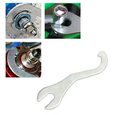 Einstellbare Fahrrad Tretlagerachse Schraubenschlüssel Reparatur Werkzeug LF