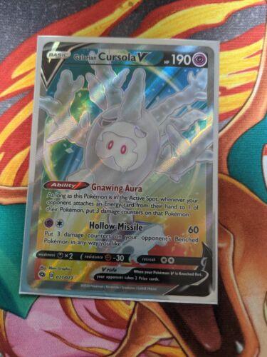 Galarian Cursola V 071//073 Ultra Rare Full Art Champions Path Pokemon Card NM