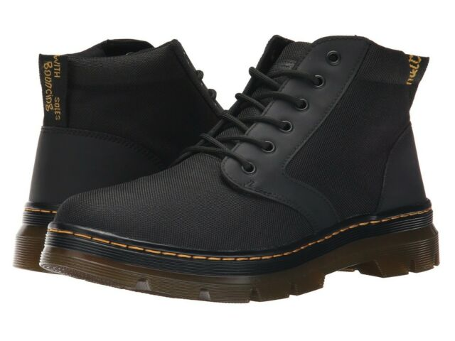 new incredible prices excellent quality Men's Shoes Dr. Martens BONNY 6 Eye Nylon Waxy Canvas Ankle Boots 20377001  BLACK