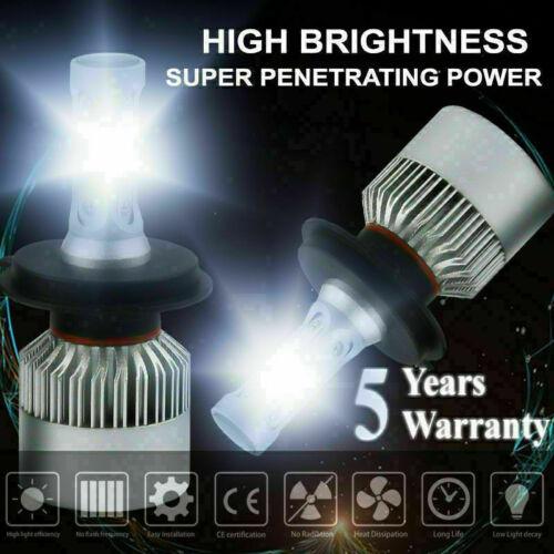 Pair H4 9003 1400W 210000LM LED Conversion Headlight KIT Hi-Lo Beam 6000K White