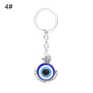 Details about AM  Womens Turkish Blue Evil Eye Pendant Key Chain Bag Charm  Lucky Keyrings Surp 75a157e346