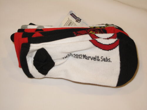 NWT MARVEL AVENGERS 5 pair socks BOY fits sock size 6-8.5 multi color