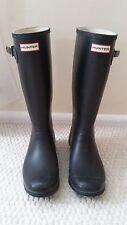 "Women's Hunter Wellington Original Tall Rain Boots Black Size 8M (Wide Calf 8"")"