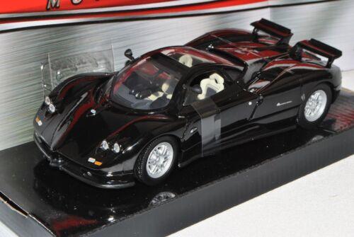 Pagani Zonda c12 COUPE NERO 1//24 MotorMax modello auto con o senza Individ...