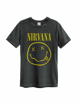 NEW /& OFFICIAL! Nirvana /'Smile Colours/' T-Shirt Amplified Clothing