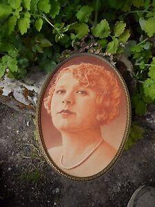Ancien Dessin Portrait Jeune Femme Grand Cadre Ovale Louis Xvi En Bronze Voulez-Vous Acheter Des Produits Autochtones Chinois?