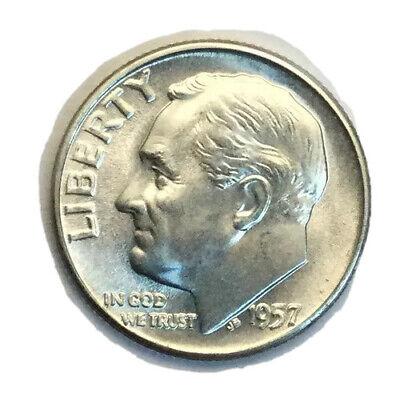 "1957-D Roosevelt Dime /""CH BU/"" *Free S//H After 1st Item*"