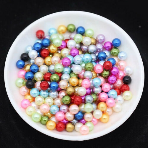 Wholesale Mixed 8mm ABS Plastic Round Loose Pearls Spacer Beads DIY No Hole