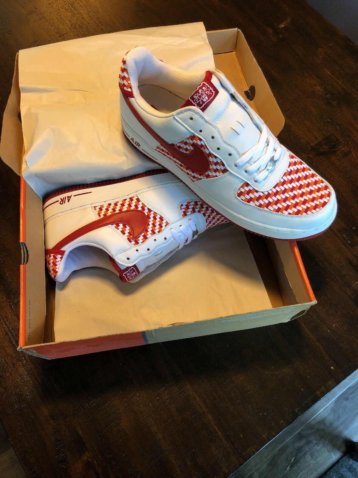Deadstock Nike Air Force 1 West Indies Sz 13 Style red/wht/weave Seasonal price cuts, discount benefits