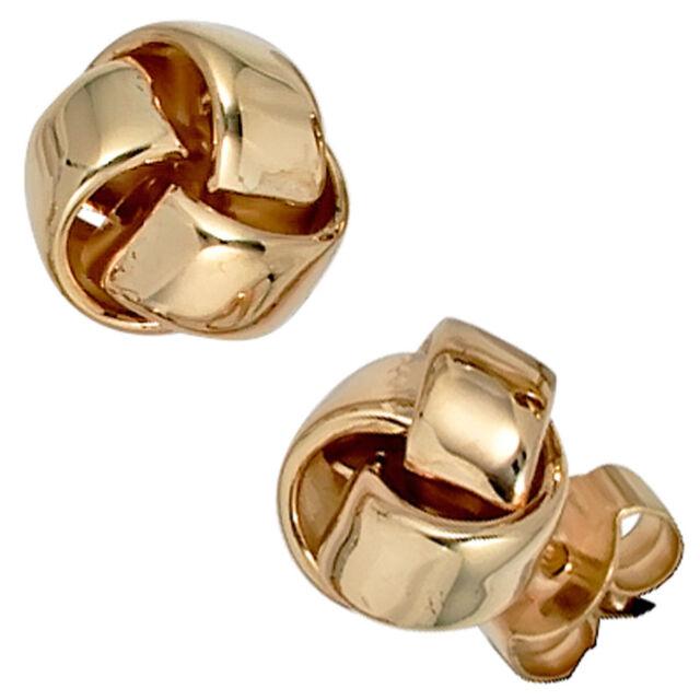 Damen Ohrstecker Knoten 585 Gold Gelbgold Ohrringe Goldohrstecker Goldohrringe