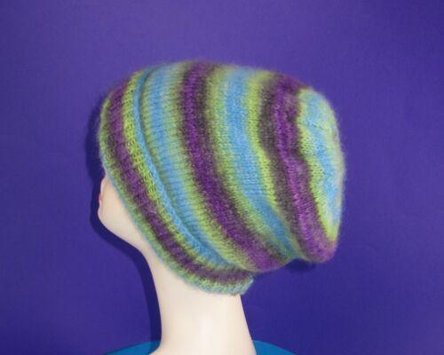 Imprimé tricot Instructions-Ange imprimer mohair slouch hat tricot motif