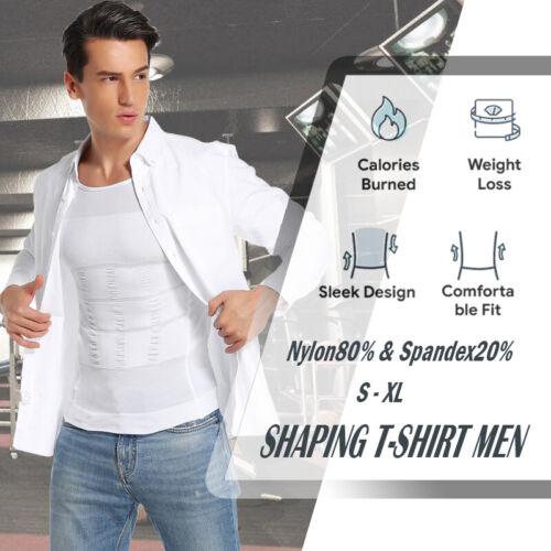 Details about  /Men Body Toning Underhirt Muscle Compression Shapewear Tummy Control Shaper Vest