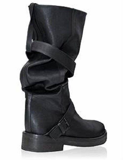 Ann Demeulemeester Black Buckled Boots 9