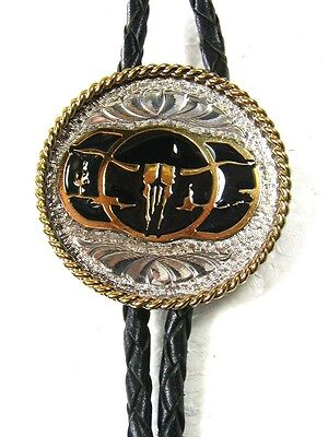 Shop For Cheap Silver Tone Gold Tone Black Longhorn Skull Bolo Leather Cord Unbranded 121515 Clothing, Shoes & Accessories