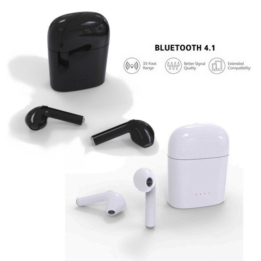 0165ea7103c Details about 2Pcs HBQ i7 For Pods Mini Wireless Bluetooth Headset in-Ear  +Charging Station