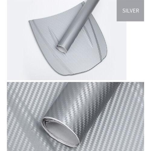 3D Carbon Fiber Vinyl Car Wrap Sheet Roll Film Sticker Decal 127x30cm M0OK