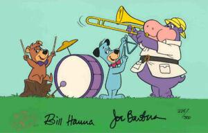 Hanna Barbera-Huckleberry Hound-Huck's Band LE Cel Signed By Hanna and Barbera